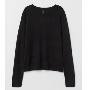 H&M black crewneck knit sweater